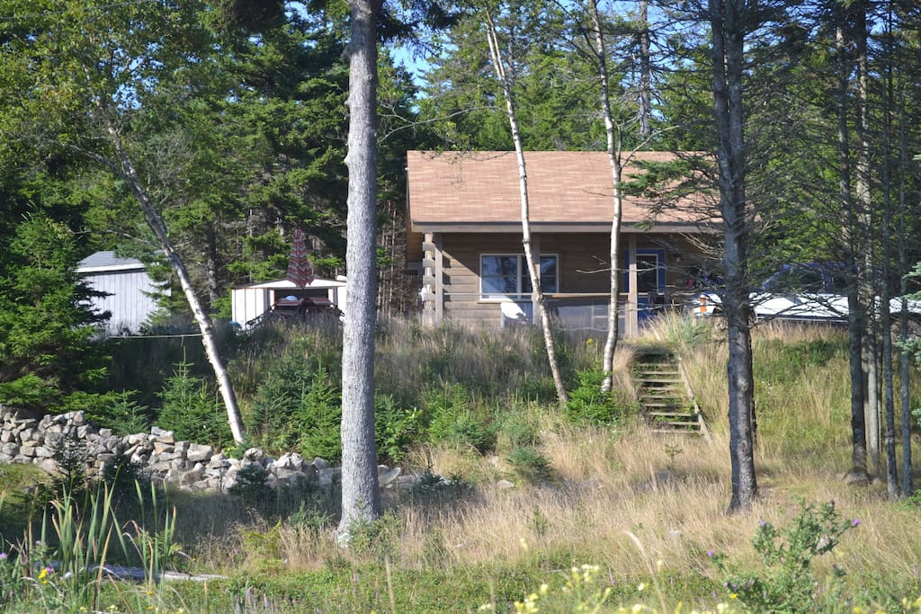 View of the cabin taken from the beach