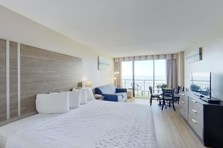 17th Floor Ocean View Studio w/ Shared Pool/Hot Tub, WiFi, and AC - Dogs OK!