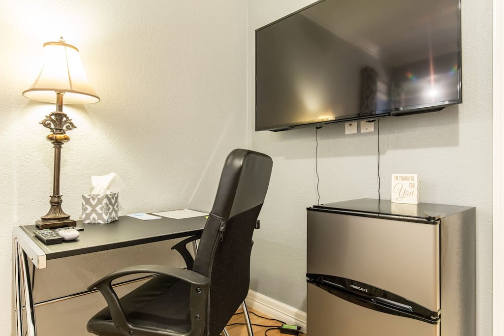 Sit back and get some work done in the comfort and peace of your own room with no bothers.