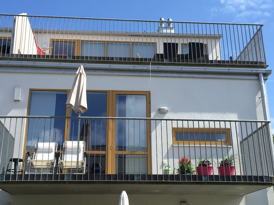 Balcony and roof terrace