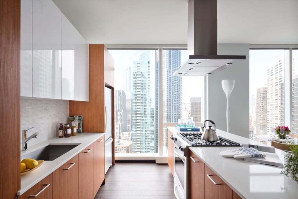 Super modern designer gourmet kitchen with everything you need for cooking