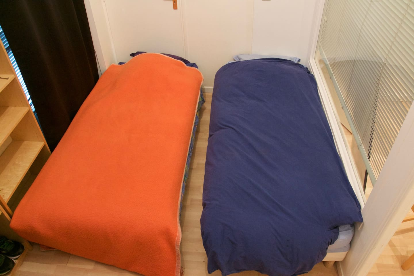 Two cosy bed that can become one if needed