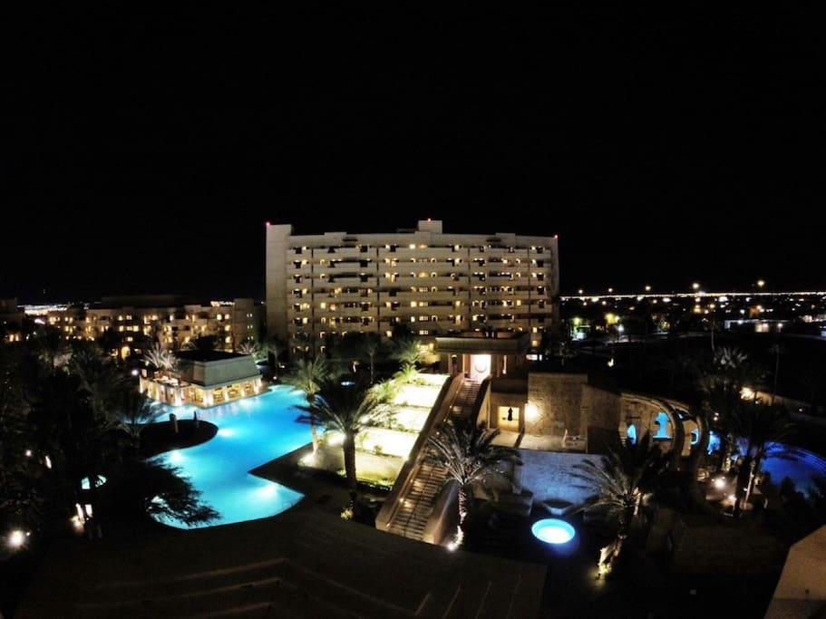 Vegas night sky from the resort!