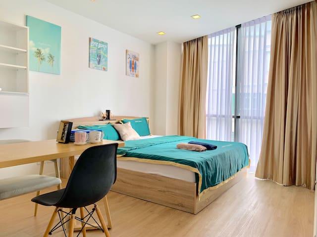 [中文服务]双床轻奢市中心公寓