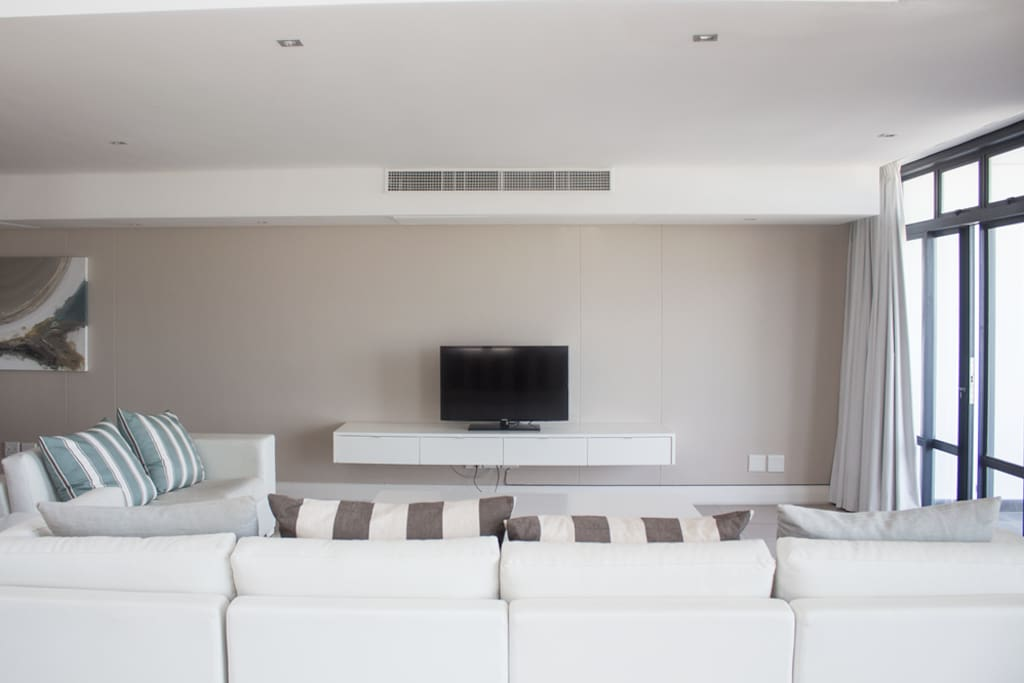 Living room with DSTV