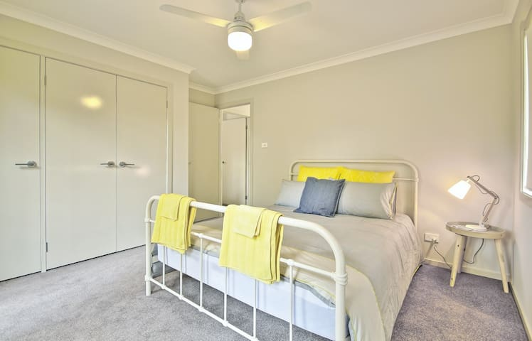 Spotless sleeping area with all linen and towels provided