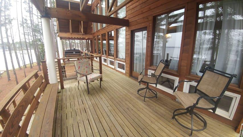 View of Upper Deck porch; door walks out from Master bedroom