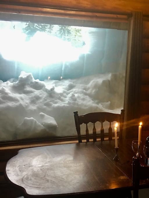 Cozy view from the dining room.