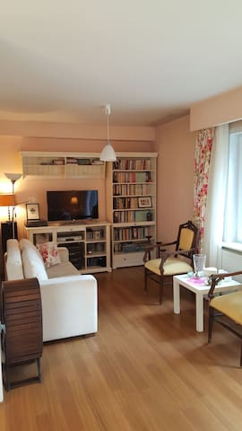 Super bright apartment with garden at Bosphorus !