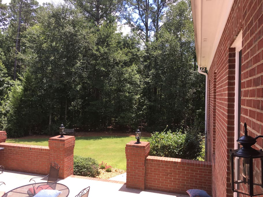 Large terrace level patio with grill