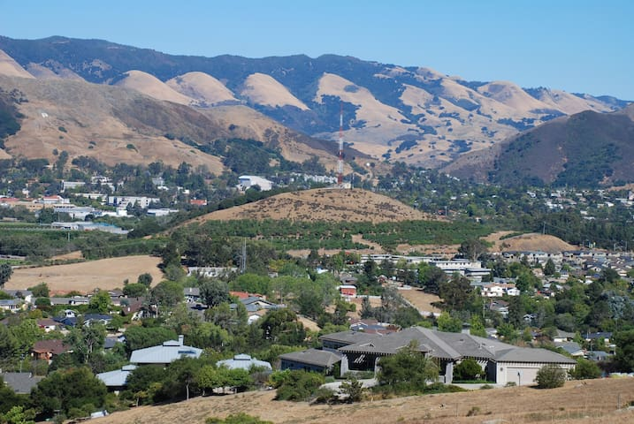 Looking out at Cal Poly from Bishop's