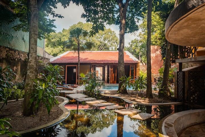 Casa de Madera: Charming Landscape Of Lily Ponds