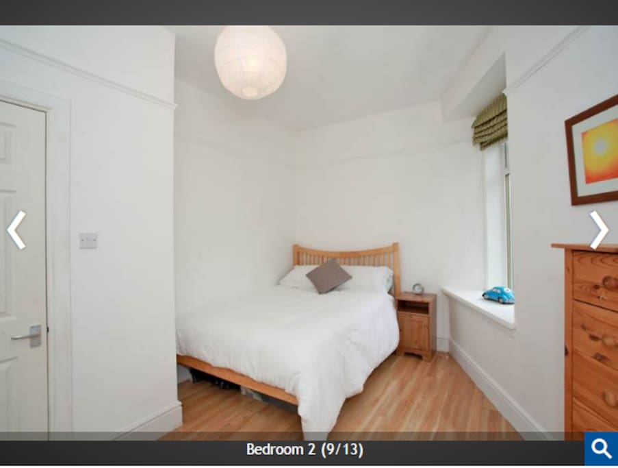 This is your room. Fresh, clean and comfortable. There is now a large tv within the room and PC desk too.