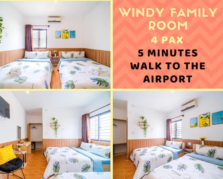 Family Room - 4 pax - 3 mins International Airport