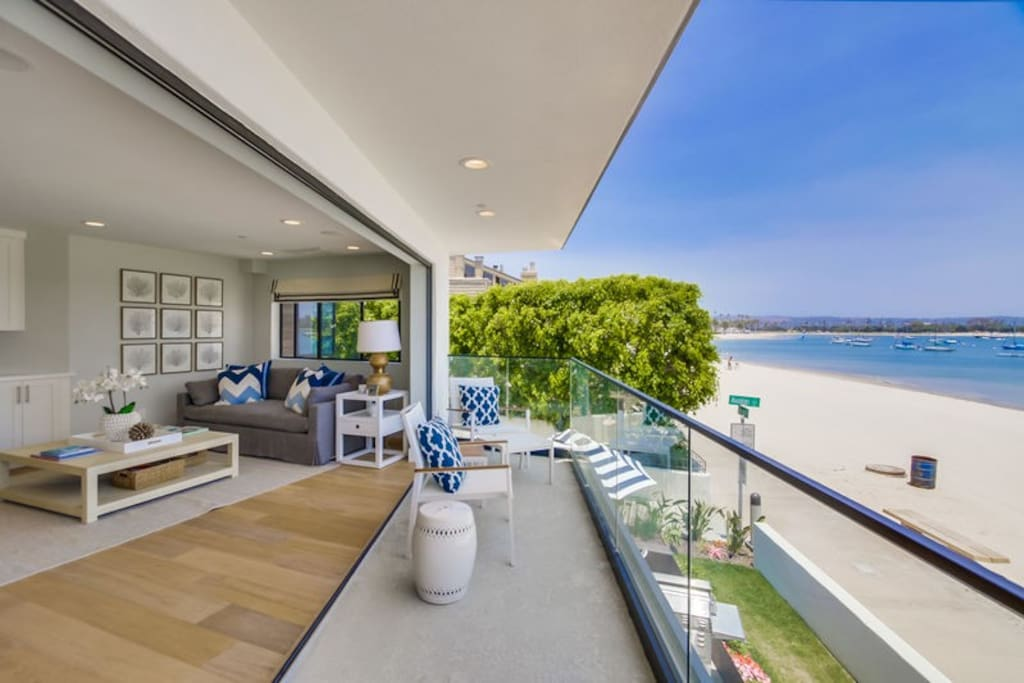 Patio overlooking Mission Bay