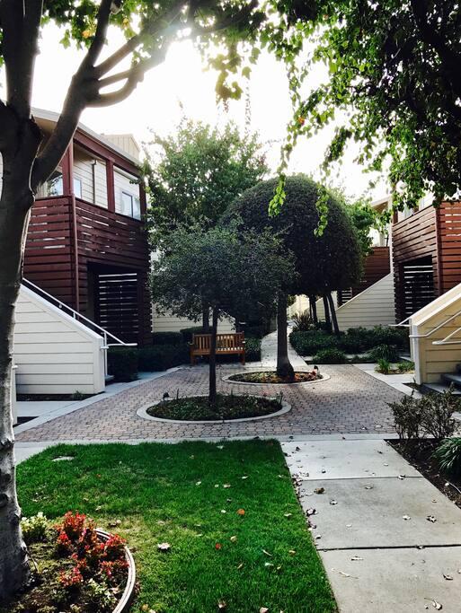 Featuring a beautiful courtyard
