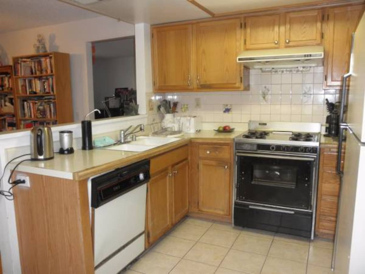 Kitchen is a place where guests meet for conversation and eating when light cooking are done here for a quick meal.