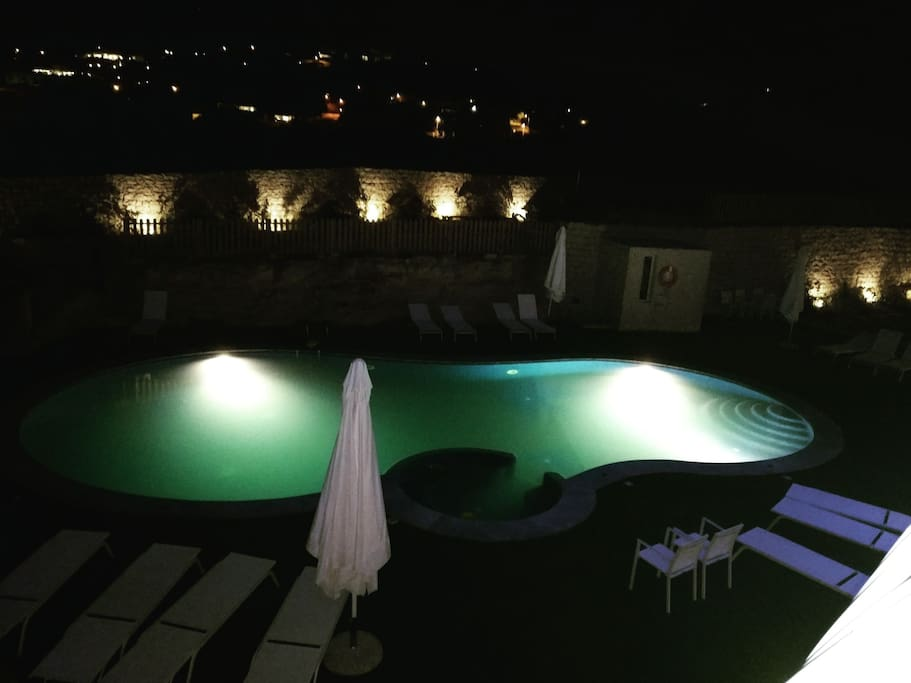 Terrace view at night