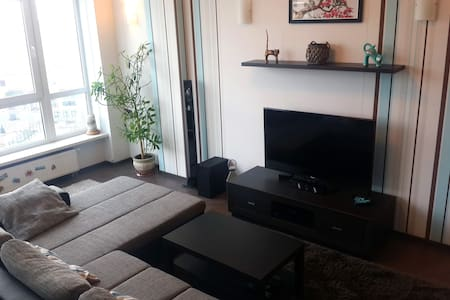 Spacious sunny 1 bedroom studio in secured complex - Kiew - Wohnung