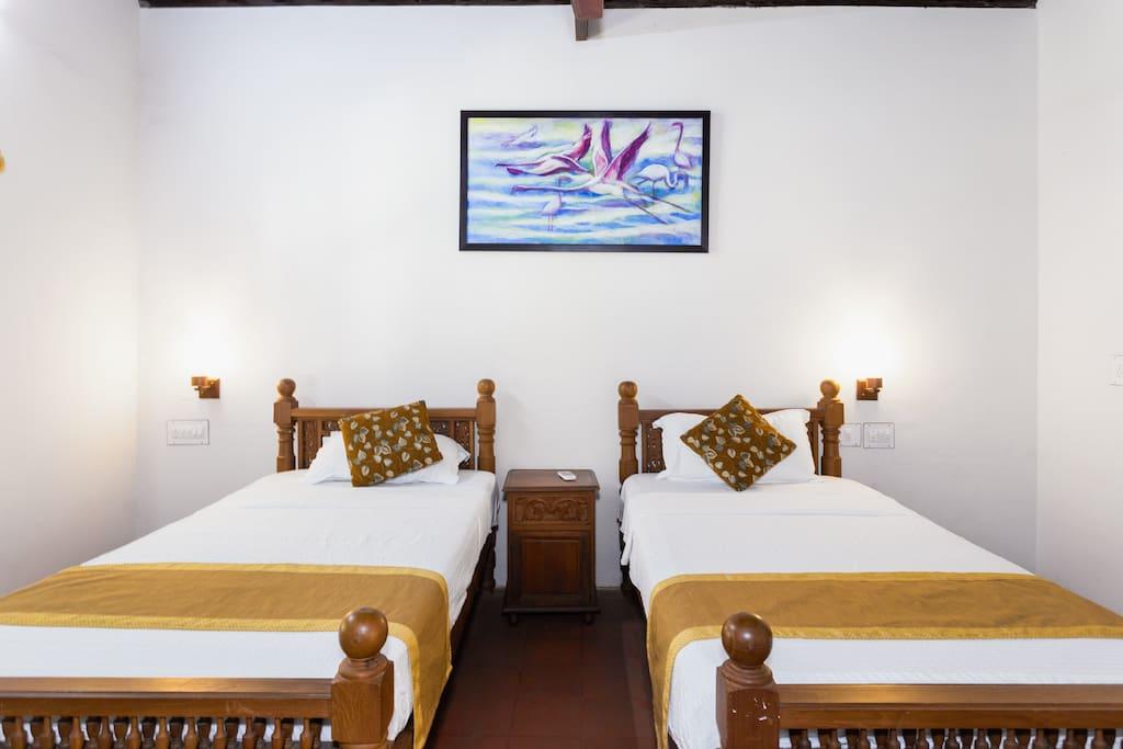 Heritage Twin Bed Room Interior