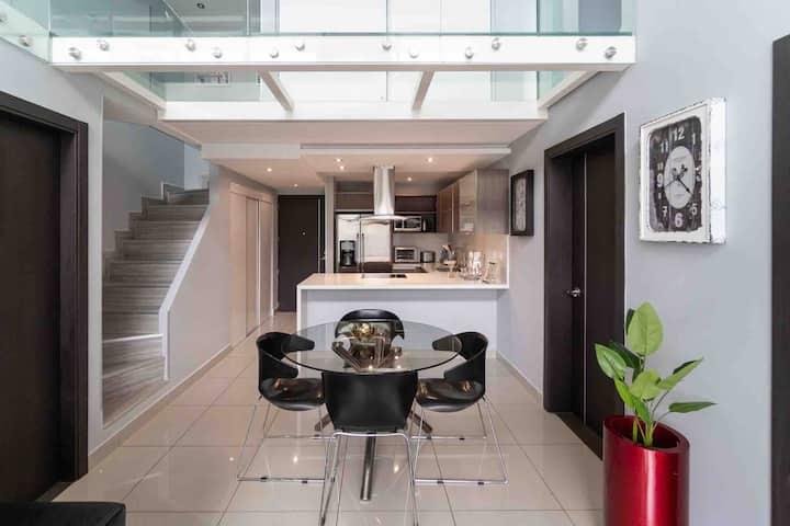 Contemporary design, modern 3 bedroom apartment
