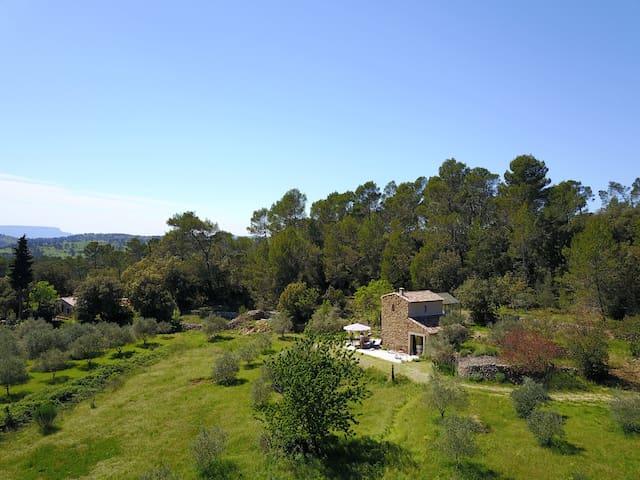 Beau cabanon restauré au milieu des oliviers!