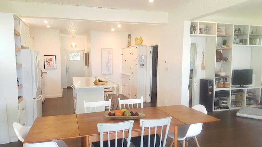 Kitchen and dining room.