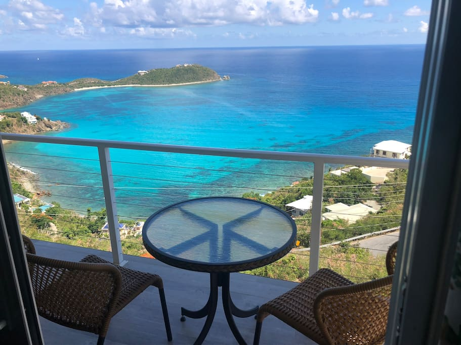 A view of Rendezvous Bay from your private balcony.