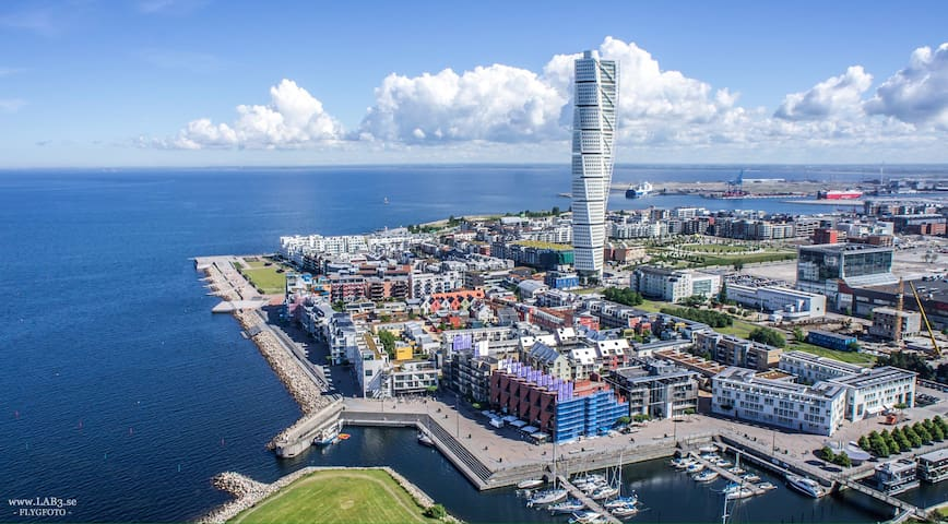 Modern Penthouse in Västra Hamnen with a View - 馬爾默 - 公寓