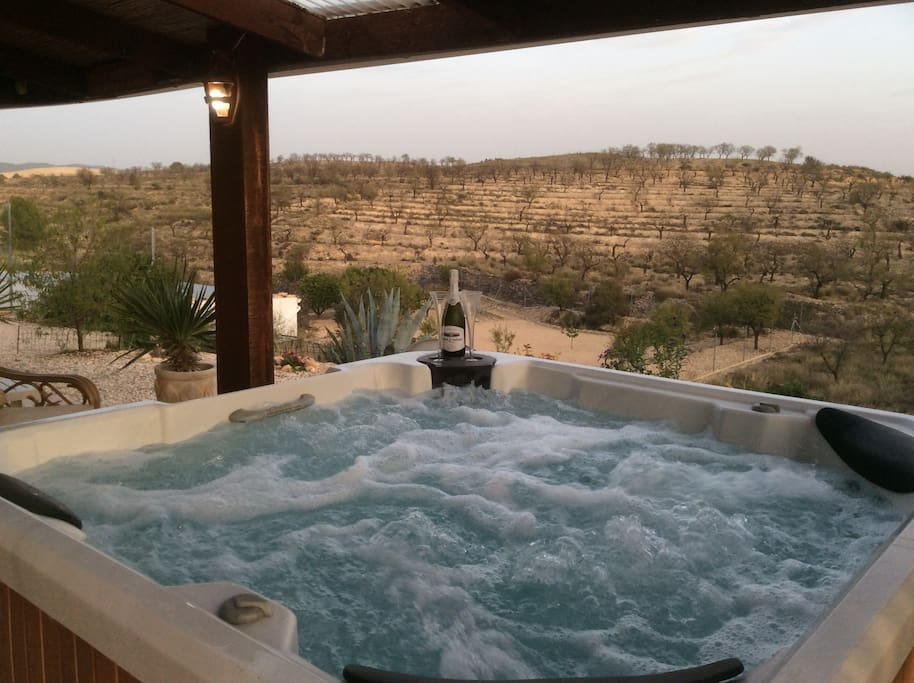 Or a bottle of Cava in the hot tub