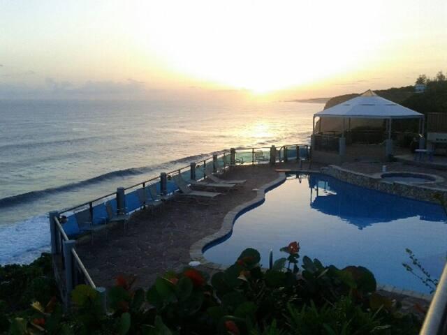 Ocean Front Pool & Bedrooms