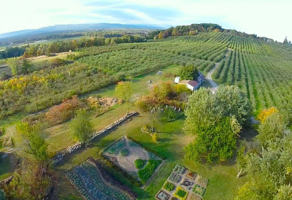 Beautiful gardens and orchards.