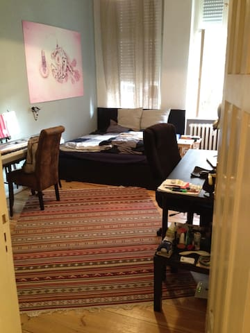 Big, cozy furnished room in friendly shared flat.