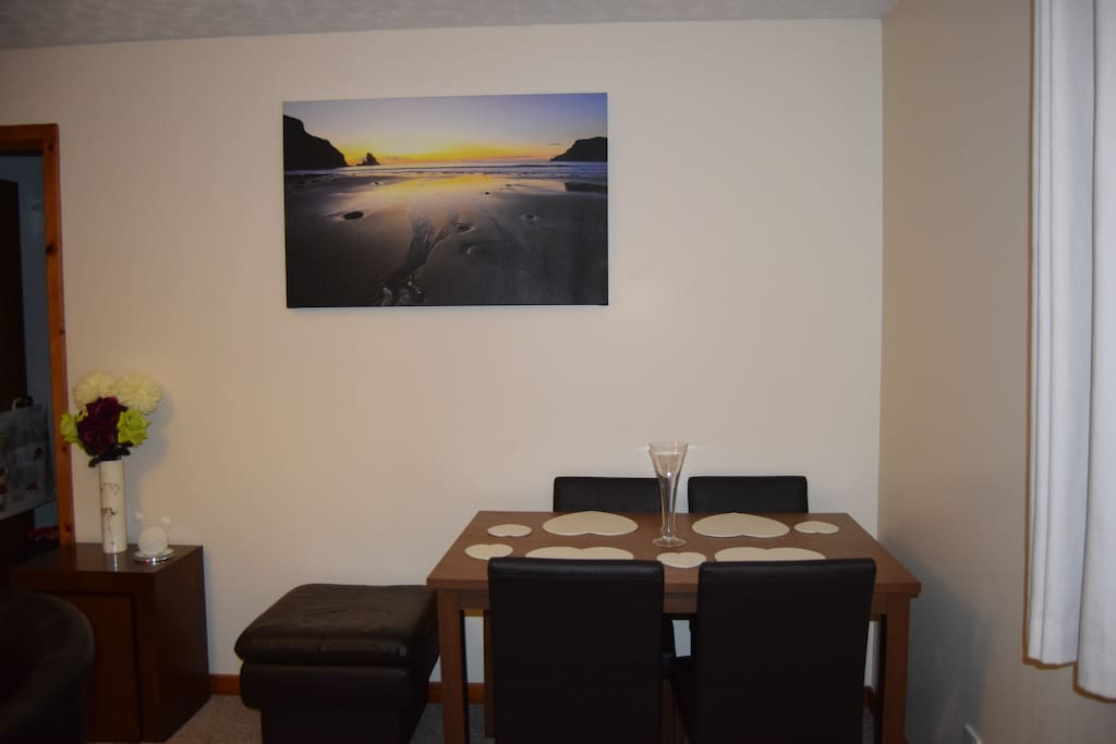 Dining table in Sitting room
