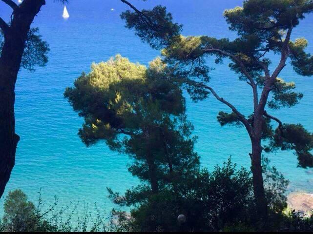 Monolocale vista mare, piscina e spiaggia privata