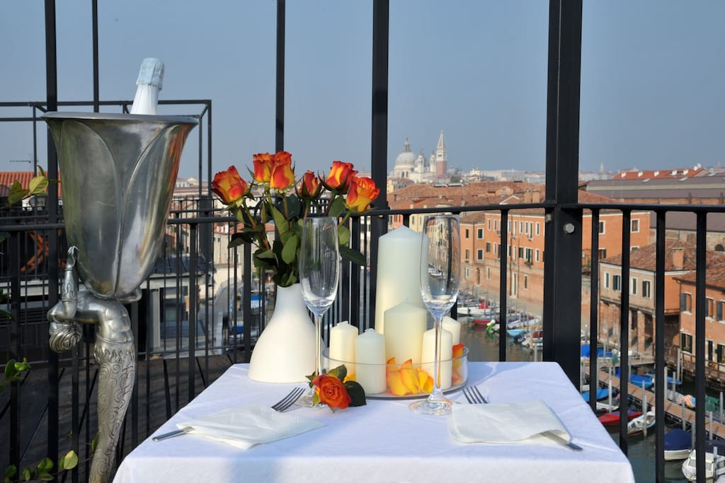 view of Venice from the terrace -Altana