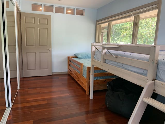 Second bedroom with mountain views