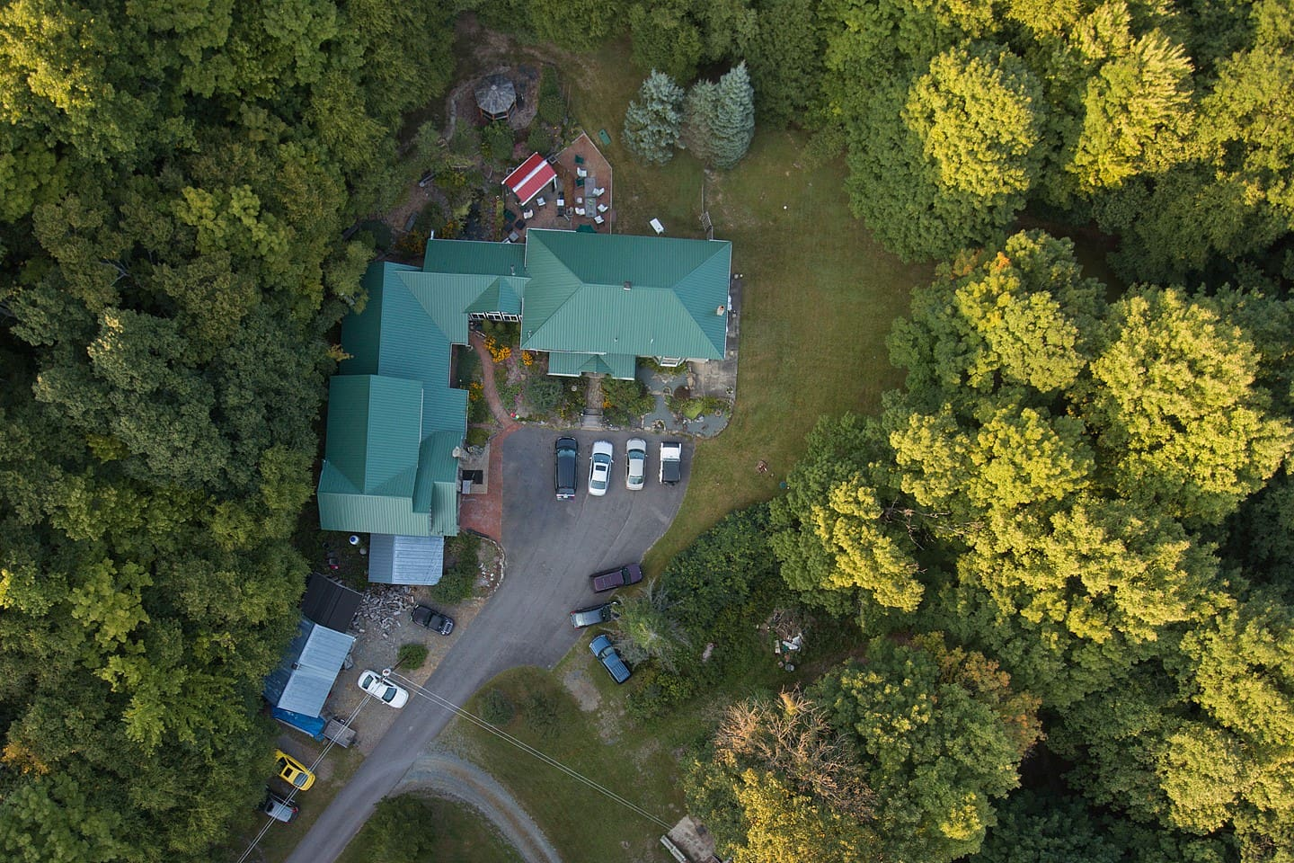 Overhead view of the property.