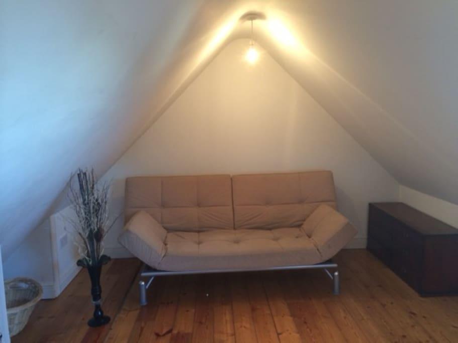 double sofa bed on Mezzanine