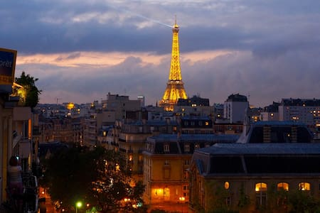 Eiffel tower view cosy & bright studio - Parigi
