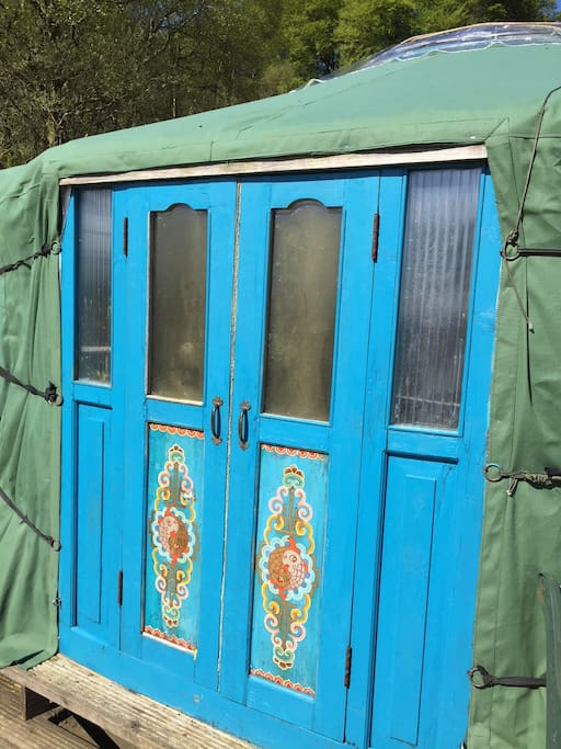 Hand painted doors from Mongolia