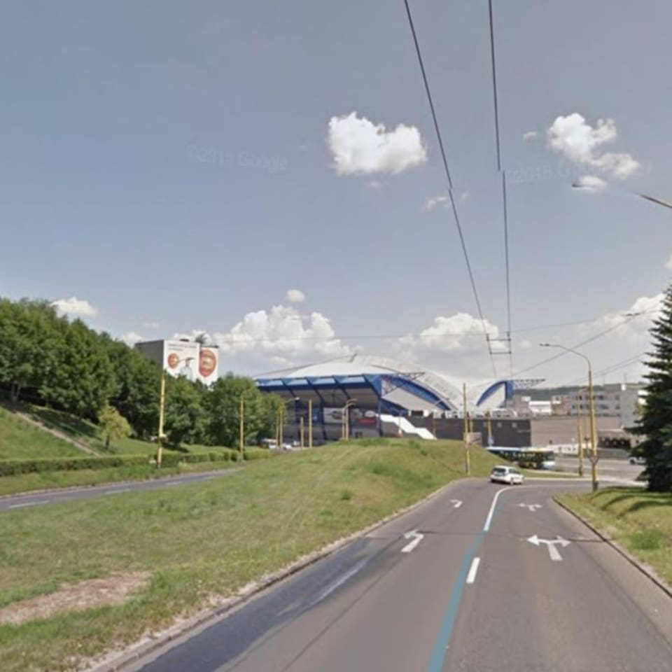 Steel arena in the closest neighborhood.