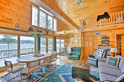 NEW! Peaceful Cottage on Long Lake w/ Deck & Dock!