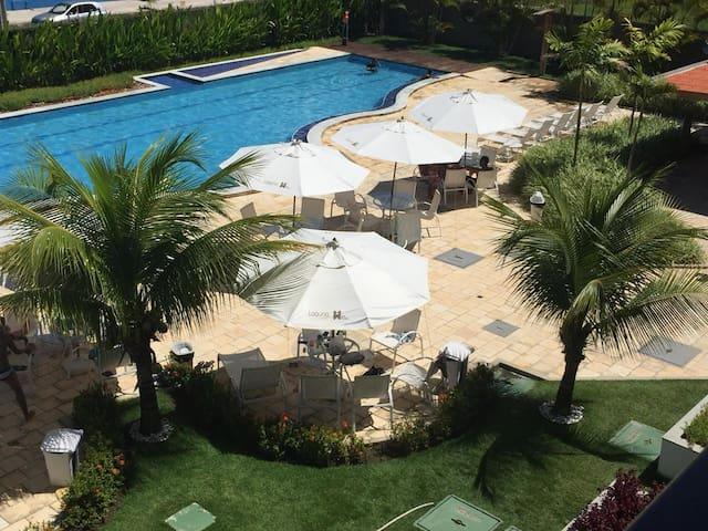 Laguna Beach Flat pool and garden view