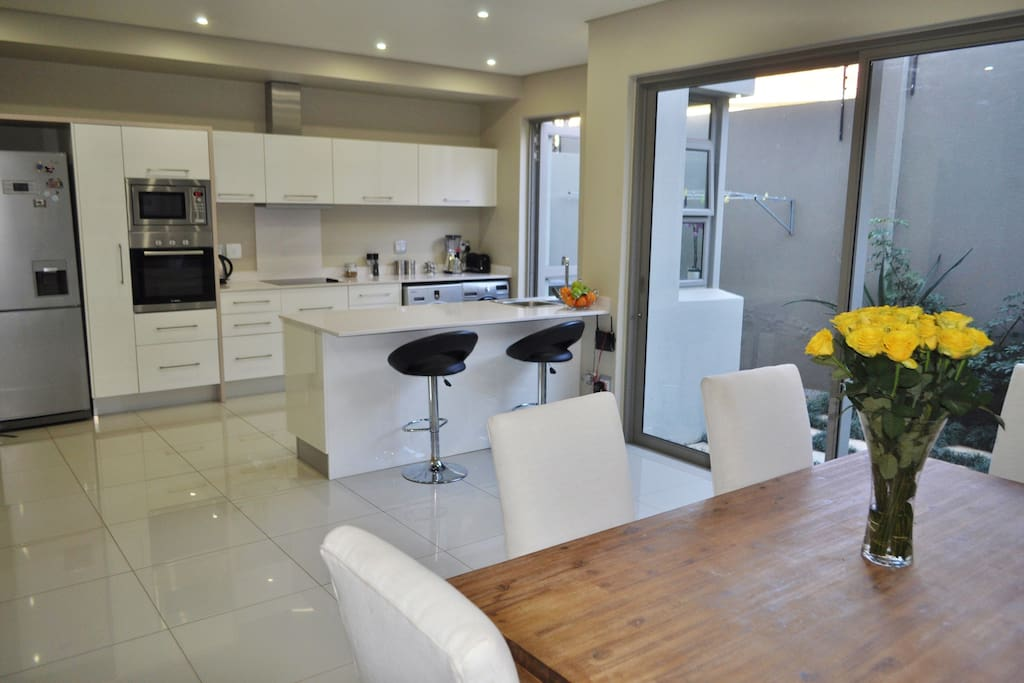 open plan dinning & Fully equipped kitchen