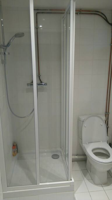 private shower and wc