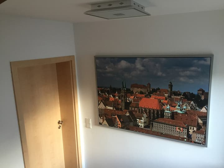 Modern flat close to Nuremberg Messe Fair and city