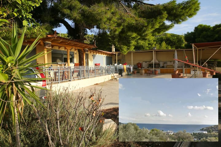 170mHouse-Full View,Garden,BBQ - Agia Marina - House