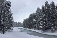 Snowshoeing around Donner Lake