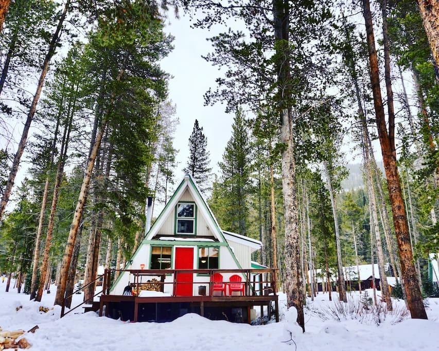 Breckenridge blue river ski cabin cottages for rent in for Ski cabin rentals colorado